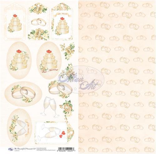 Двустранна дизайнерска хартия 30x15 cm, 250 гр - The Beautiful Moments