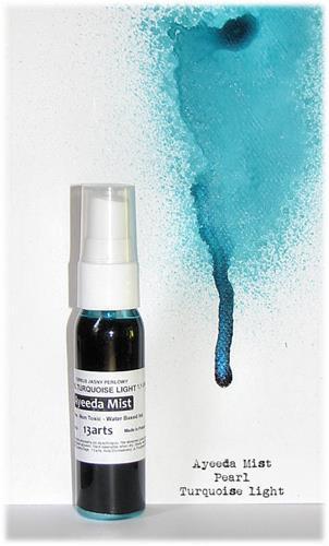 Mixed media перлена боя-спрей - Pearl Turquoise Light