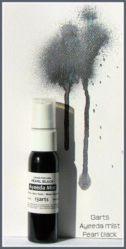 Mixed media перлена боя-спрей - Pearl Black (Graphit)