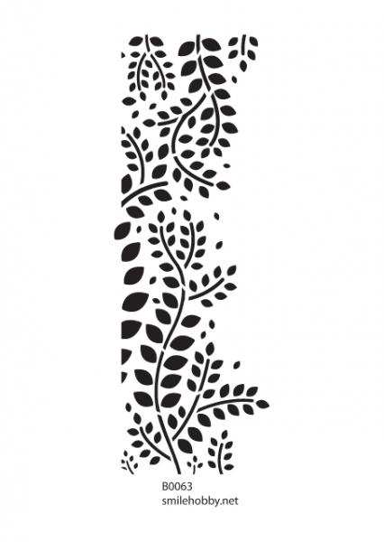 Шаблон за декупаж - 8x22,5cm - B0063