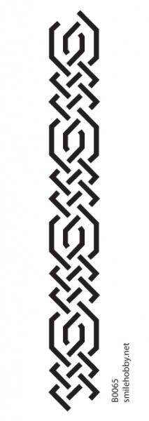 Шаблон за декупаж - 8x22,5cm - B0065
