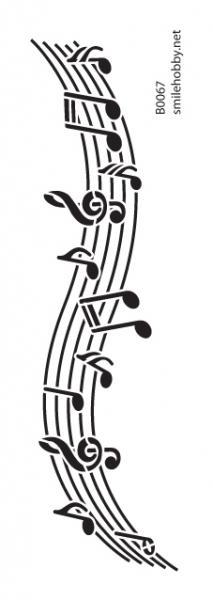 Шаблон за декупаж - 8x22,5cm - B0067