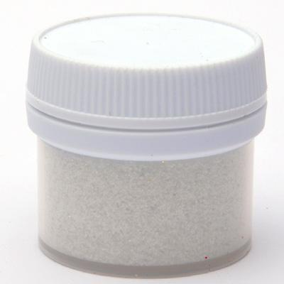 Бял  брокат на прах - 15 мл