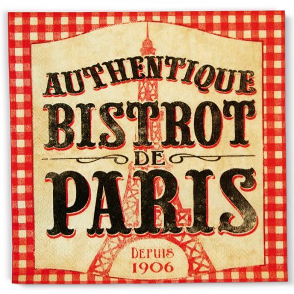 Пакет 20 бр салфетки-NATIVES*** 33 см х 33 см - Bistrot de Paris