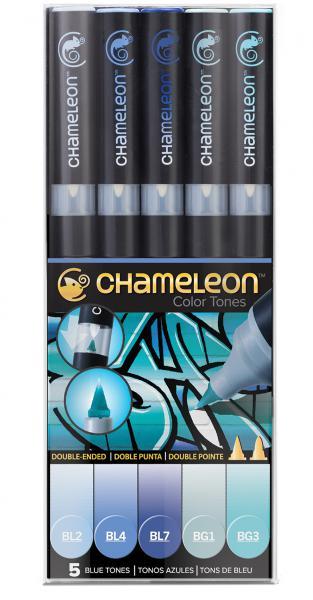 Хамелеон пен комплект 5 бр. - BLUE TONES
