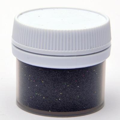 Брокат на прах - черно, 15 мл