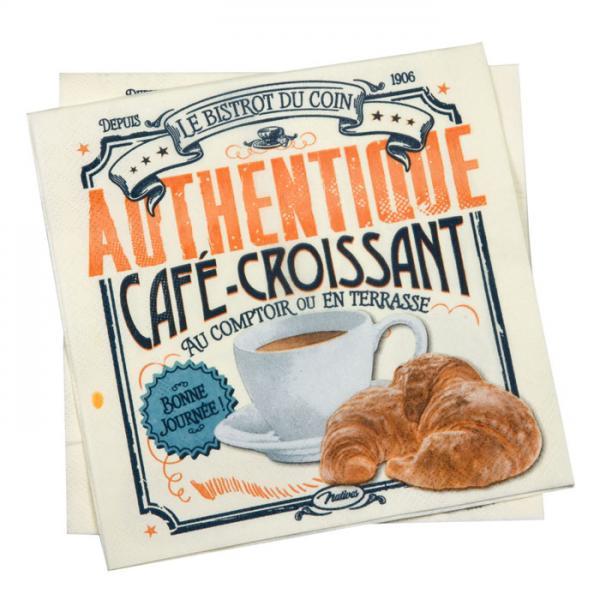 Салфетки NATIVES 33см х 33см - Café-croissant