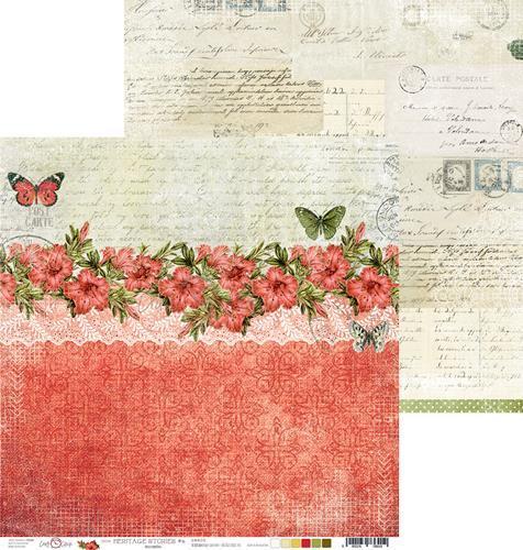 Двустранна дизайнерска хартия 190гр - Heritage Stories 02