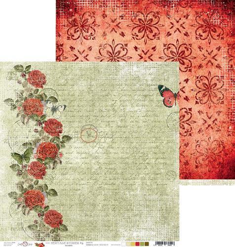 Двустранна дизайнерска хартия 190гр - Heritage Stories 03