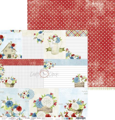 Двустранна дизайнерска хартия 190гр -  Home Sweet Home 06