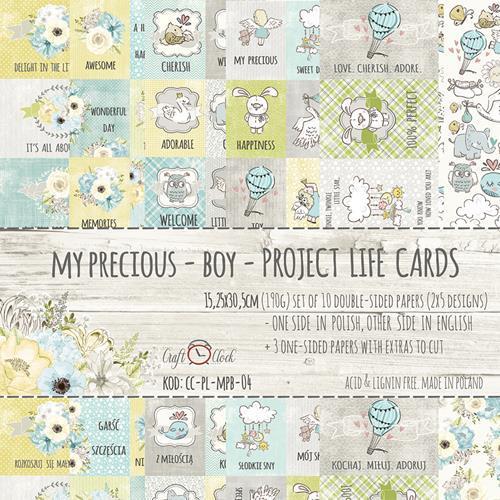 Комплект дизайнерски хартии 15х30 см, 13 листа - My Precious Boy