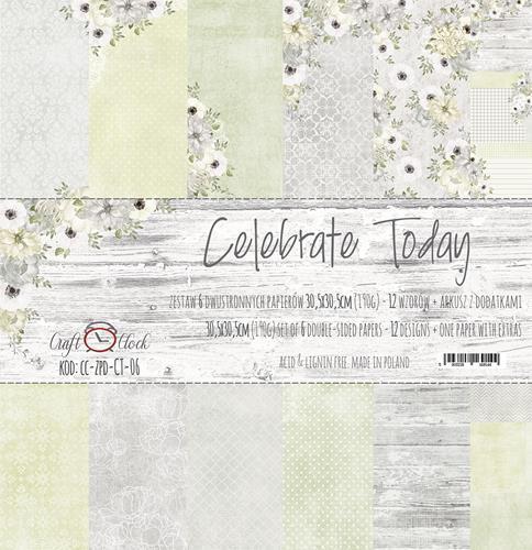 Комплект дизайнерски хартии 6 листа 12x12 inch - Celebrate Today