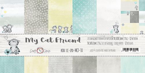Комплект дизайнерски хартии 6 листа 12x12 inch - My Cat Friend