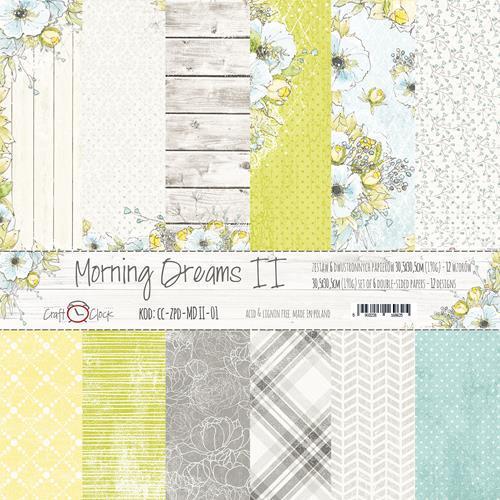 Комплект дизайнерски хартии 6 листа 12x12 inch - Morning Dreams II