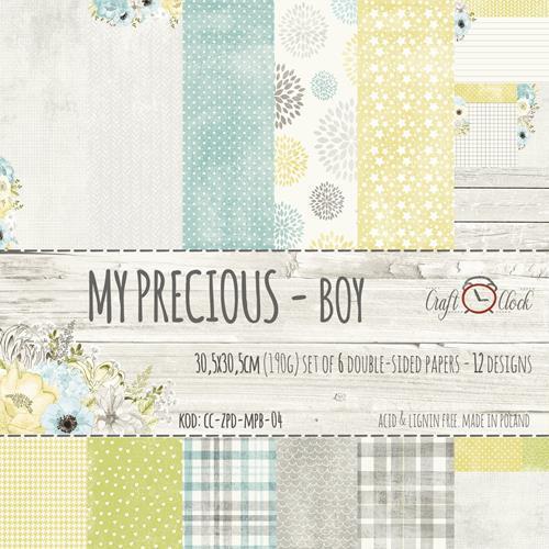 Комплект дизайнерски хартии 6 листа 12x12 inch -  My Precious Boy