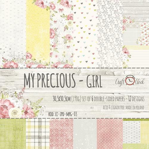 Комплект дизайнерски хартии 6 листа 12x12 inch -  My Precious Girl