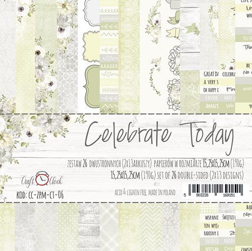 Комплект дизайнерски хартии 26 листа 6x6 inch - Celebrate Today