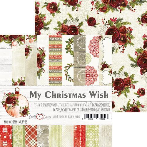 Комплект дизайнерски хартии 6x6 inch, 18 листа 190гр - My Christmas Wish