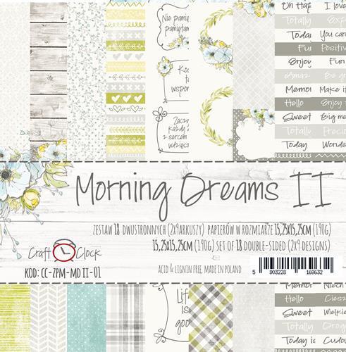 Комплект дизайнерски хартии 6x6 inch, 18 листа 6x6 inch - Morning Dreams II