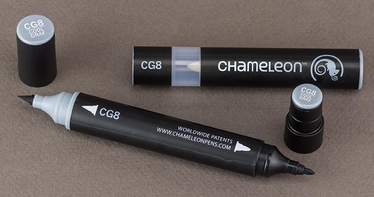 Хамелеон маркер - Cool Grey CG8