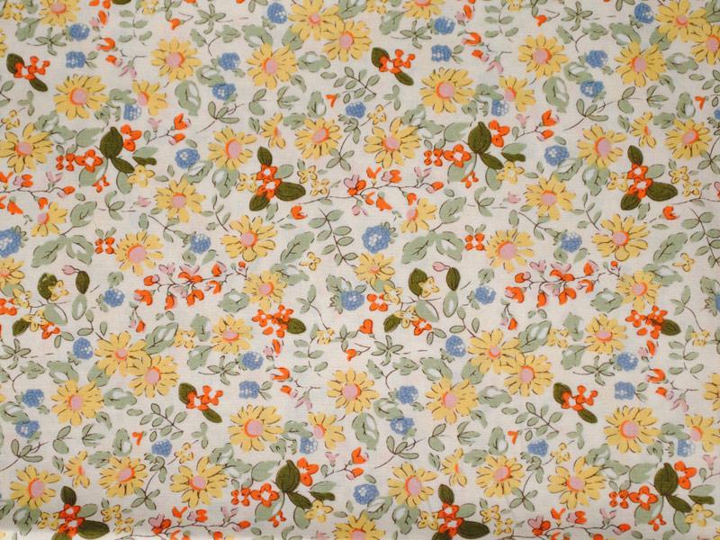 Памучен плат Daisy flower 50 x 46 см