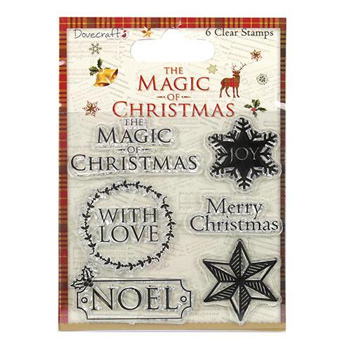 Силиконов печат, 6 отделни елементи - Magic of Christmas