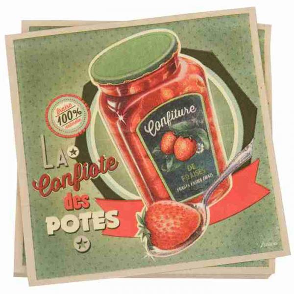 Салфетки NATIVES 33см х 33см - Confiote des potes