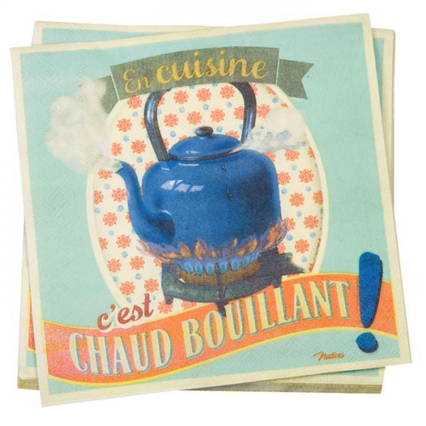 Пакет 20 бр салфетки-NATIVES 33 см х 33 см - Chaud bouillant