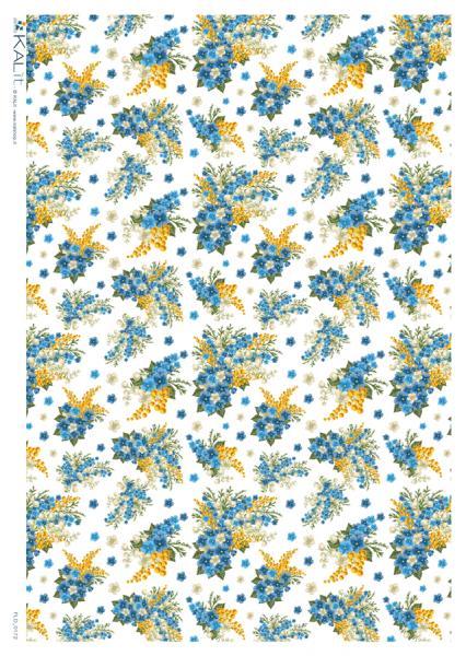 Оризова хартия за декупаж KALit, 32х45 см  - flo_0172