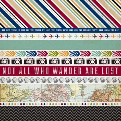 Двустранна дизайнерска хартия - Border Strips