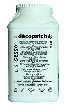 Акрилен грунд / гесо  DECOPATCH бял - 300 гр