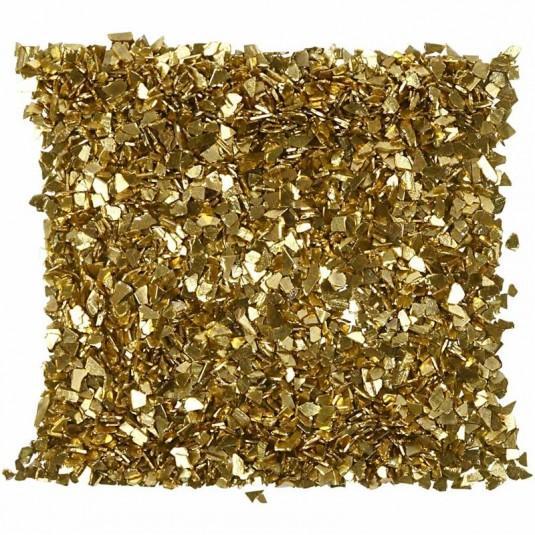 Глитерни люспи 1-3 мм златни 5 гр.