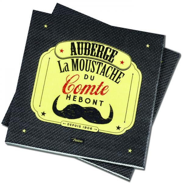 Пакет 20 бр салфетки-NATIVES 33 см х 33 см - La moustache