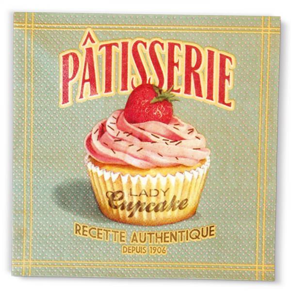 Салфетки NATIVES 33см х 33см - Lady Cupcake