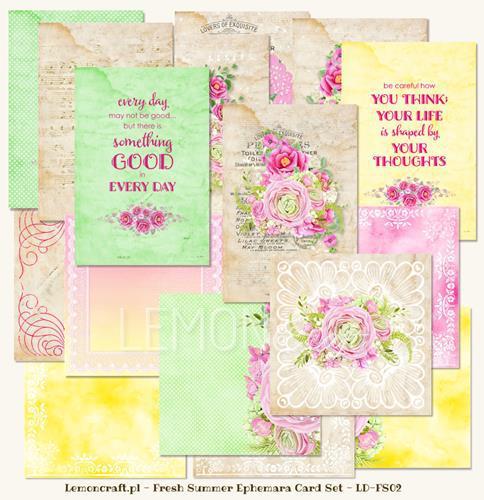 Набор за картички 31 листа, 10x15cm и 13,5x13,5cm - Fresh Summer