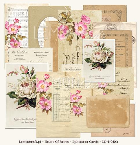 Набор за картички 24 листа, 10x15cm и 5x7,5cm - House of Roses