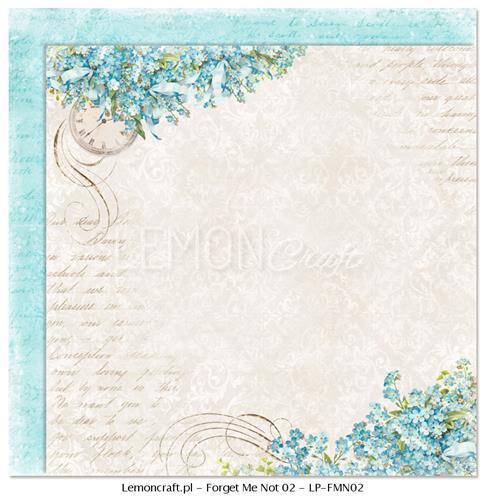 Двустранна дизайнерска хартия 200 гр - Forget Me Not 02