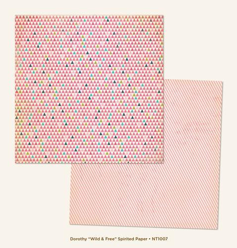 Двустранна дизайнерска хартия - Wild & Free Spirited