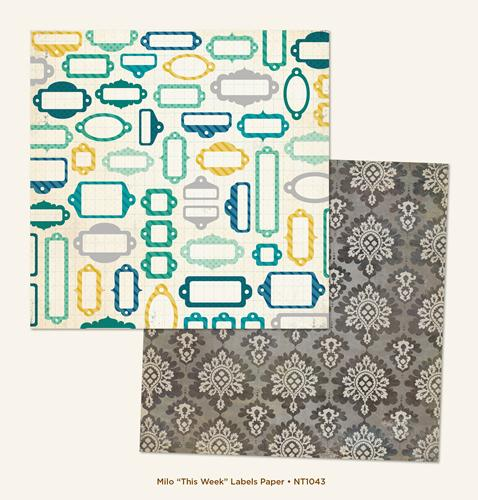 Двустранна дизайнерска хартия - This Week Labels