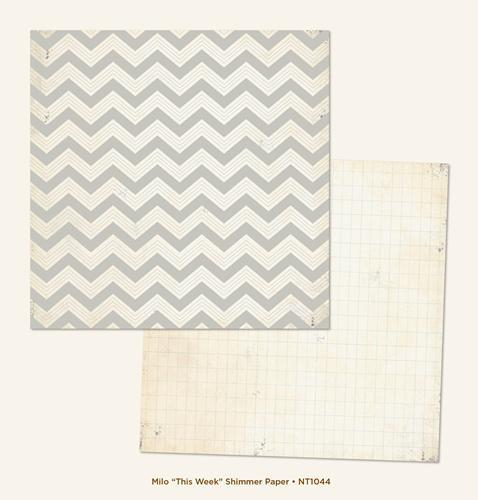 Двустранна дизайнерска хартия - This Week Shimmer