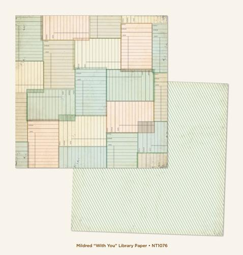 Двустранна дизайнерска хартия - With You Library