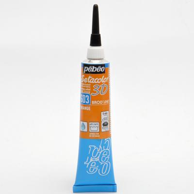 3D Обемен контур за текстил - Orange 603