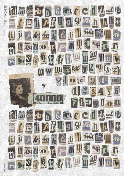 Оризова хартия за декупаж KALit, 32х45 см  - SCRAP_0002