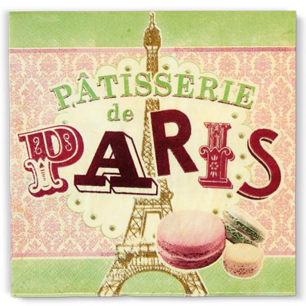 Пакет 20 бр салфетки-NATIVES 33 см х 33 см - Pâtisserie de Paris