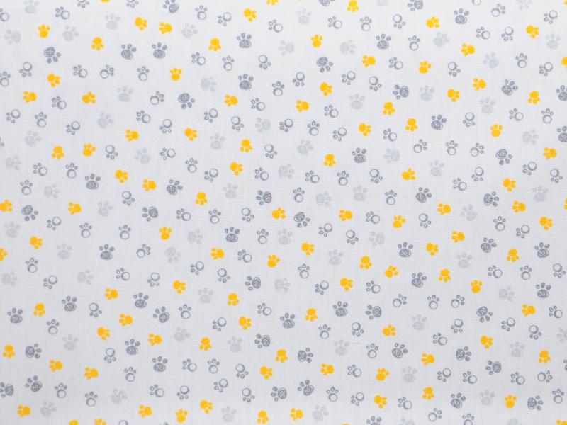 Памучен  плат  Printed Oeko Tex Мечи лапички - 50 х 50 см