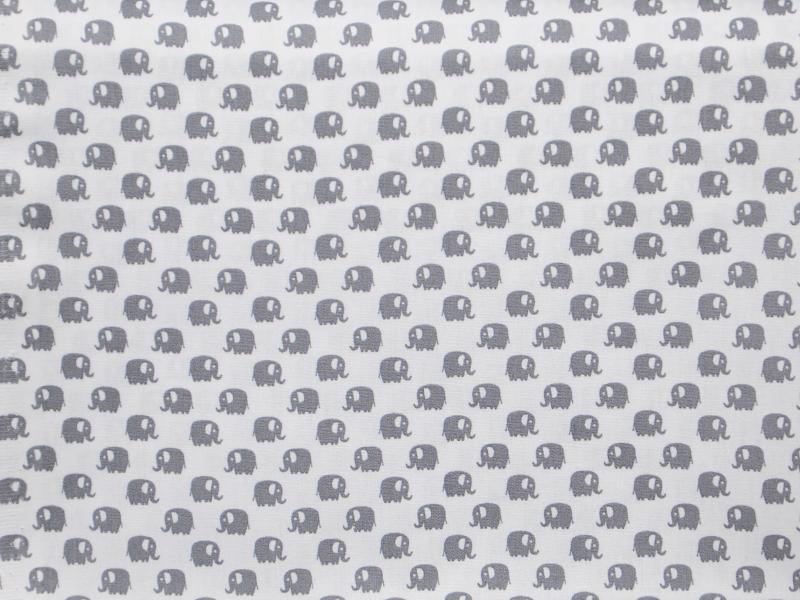 Памучен  плат  Printed Oeko Tex Слончета  - 50 х 50 см