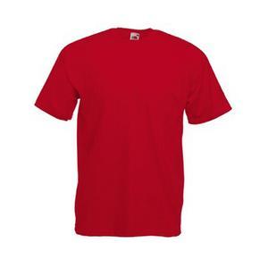 Памучна тениска - червена-  размер 48