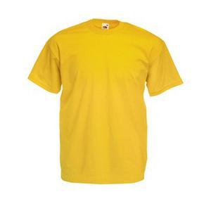 Памучна тениска - жълта-  размер 48