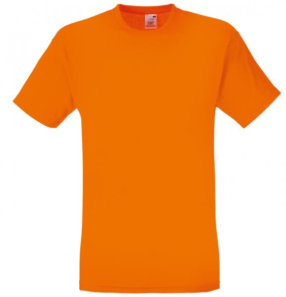 Памучна тениска - оранжева -  детски размер 42