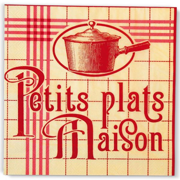 Салфетки NATIVES 33см х 33см -Petits plats Maison